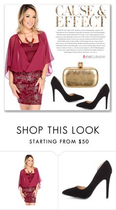 """""""AMICLUBWEAR 8/III"""" by amra-mak ❤ liked on Polyvore featuring Alexander McQueen and Envi"""