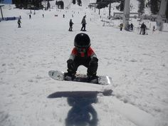 He started snowboarding when he was only 3 years old... He loves it and is so natural at it..