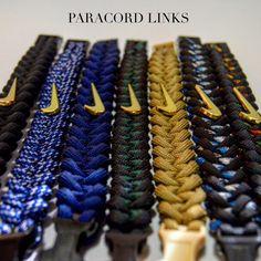 Get a Custom Nike Bracelet from Paracord Links today!  www.paracordlinks.com