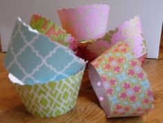 Make your own cupcake wrappers.