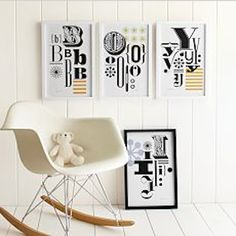 typographic letters poster http://rstyle.me/n/jjcrdr9te