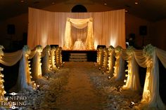 church wedding decoration pictures | Church Wedding and Country Club - Murfreesboro TN - white orchids and ...