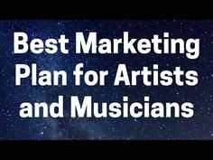 Your Best Music Marketing Plan (Turn Ideas Into Action). This video explains my best advice on creating a music marketing plan for artists. Music Promotion, Marketing Plan, Good Advice, Good Music, I Am Awesome, Bob, Action, Artists, How To Plan