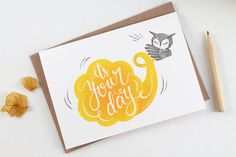 https://flic.kr/p/fCPka9 | It's Your Day - Greeting Card | whimsywhimsical.etsy.com