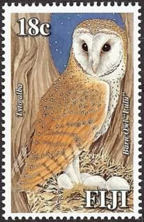 fiji owl postage stamp barn owl fox and owl postage stamps