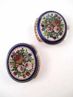 Vintage Micro Mosaic Jewelry Clasps