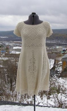 Probably The Only Sweater Dress I Would - Qoster Crochet Blouse, Knit Dress, Lace Dress, Beginner Knitting Patterns, Knitting Designs, Diy Crafts Dress, Mode Crochet, Diy Wedding Dress, Lace Knitting