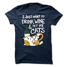 Drink Wine And Pet Cats T-Shirt, Hoodie, Sweatshirt Sweater Hoodie, Men Sweater, Sweater Boots, Sweater Fashion, Drinking Shirts, Drinking Jenga, Pet Cats, Pets, Cat Shirts