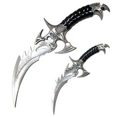 My twin daggers. Also known as death itself if you try to kill/hurt me or my friends. They are could finiás. (Killer) They turn into 2 hair clips.