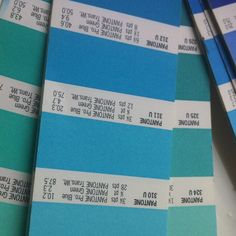 Pantone swatches for consiseration