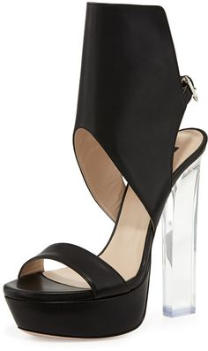 Ruthie Davis Joanne Acrylic-Heel Glove Sandal
