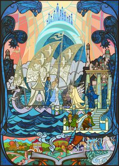 "Grey Havens | 17 Passages From ""Lord Of The Rings"" Beautifully Recreated In Stained Glass"