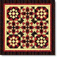 Quilt designed using the STARGLOW quilt block pattern