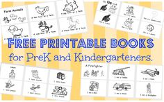 Wild Rumpus School House: *Printable BOOKS (PK-K)