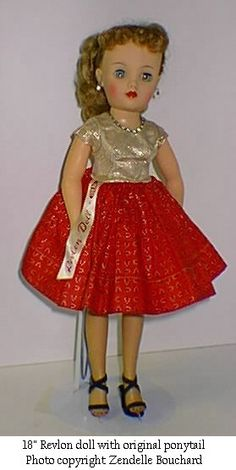 "Mint Miss Revlon doll....  OK - I may have had this doll as a child. I had a doll I named ""Lovey"" who looked just like this, in my memory. Different dress, of course, but same face, hair, and size. I wonder...."