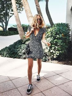 nice Maillot de bain : Cute summer 2017 outfit ideas with sneakers, dress. Athleisure for summer. How t...