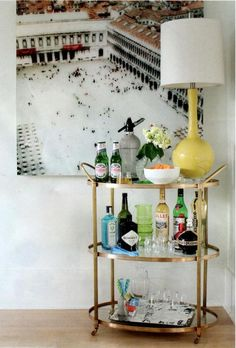 Sorella Style: Before/After: Gold Bar Cart