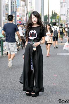 "tokyo-fashion: ""Haruka on the street in Harajuku today wearing a Saint Laurent…"