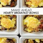 Hearty Make Ahead Breakfast Bowls These make ahead hearty breakfast bowls are perfect for when mom goes out of town or quick on the go breakfast.thirtyhandmad& The post Hearty Make Ahead Breakfast Bowls & Apero, Snacks appeared first on Health . Easy To Make Breakfast, Fast Breakfast Ideas, Night Before Breakfast, Nice Breakfast, Snacks Saludables, Make Ahead Meals, Meals To Go, Camping Food Make Ahead, Kids Meals