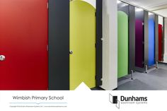 Somewhere over the rainbow… Located in the heart of Essex countryside, Wimbish Primary School chose a stunning array of colours for their new washroom.