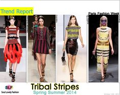 Tribal Stripes FashionTrend for Spring Summer 2014 #tribal  #fashion #spring2014 #trends #fashiontrends2014