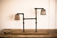 pipe lamps.