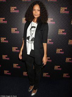 Thandie Newton natural curls.