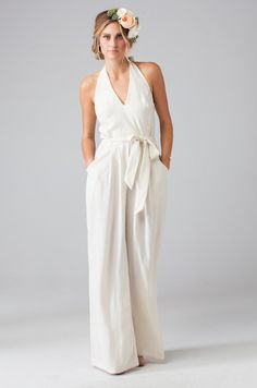 Wedding Dresses: Forget the dress, choose a jumpsuit! // Featuring the Maura Jumpsuit by Eva for Loverly via Lover.ly