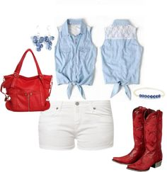 Red White and Blue - 4th of July Outfit #America