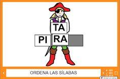 Piratas. Versión online. Actividades para formar palabras.