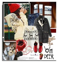 """""""Beautifulhalo.com: Oh deer!!"""" by hamaly ❤ liked on Polyvore featuring Dr. Martens, Eos, women's clothing, women's fashion, women, female, woman, misses, juniors and ootd"""