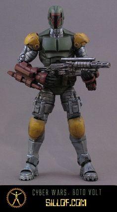 Star Wars-inspired figures 'Cyber Wars' by artist Sillof.