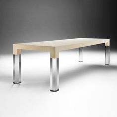 This table is so cool! Wood and Lucite Dining Table by Gino Lemson. A Gruppo Seccio brand.