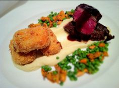 Slow Roast Beef with Blue Cheese Croquettes. - Fine Dining Recipes | Food Blog | Restaurant Reviews | Fine Dining At Home