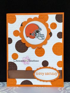Great card for any Cleveland Browns fan by DreamiasCreations