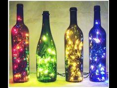 DIY: Como Fazer Uma Luminária Com Garrafa De Vidro