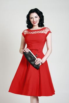Alika Circle Red | Bettie Page Clothing This is going to be my present to myself when I hit my weight loss goal