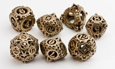 Check out Steampunk Gear Dice Set by avandius on Shapeways and discover more printed products in Dice / Games. Mode Steampunk, Steampunk Theme, Style Steampunk, Steampunk Fashion, Steampunk Weapons, Steampunk Gadgets, Steampunk Costume, Steampunk Clothing, Gothic Fashion