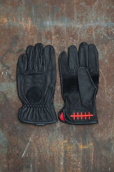 Loser Machine Company — Death Grip Leather Gloves Black