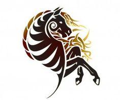 #Tribal #Horse #Tattoo