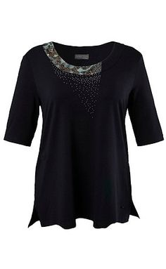 70051070 - Leopard Inset Knit Top