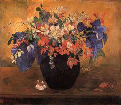 Paul Gauguin (French, 1848-1903), Vase of Flowers, 1896. Oil on canvas,64 x 74cm.