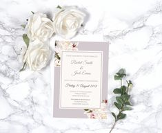Beautifully designed floral style Wedding Invitation with a contemporary layout and romantic fonts.
