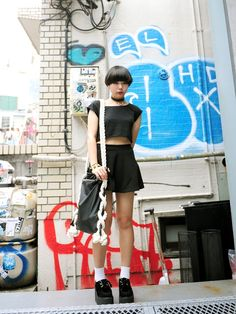 Yumi Suzuki, high school student | 30 July 2013 | Style of the Day, # 134 - via Time Out Tokyo  | #Fashion #Harajuku (原宿) #Shibuya (渋谷) #Tokyo (東京) #Japan (日本)