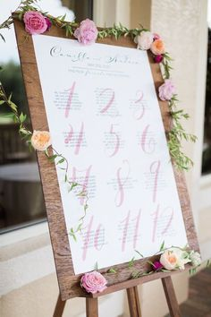 wedding reception seating chart idea; photo: Hunter Ryan Photo