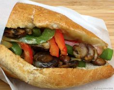 Try the Philly Cheese #Sandwich, #Vegetarian Style
