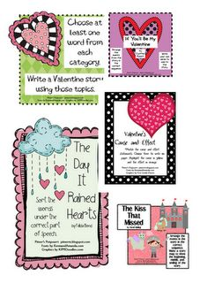 lots of Valentine's Day activities for Literacy Stations