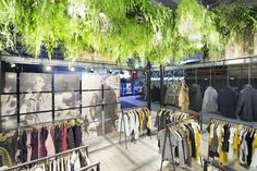 Garcia Jeans, retail design, interior design, booth, fair, Panorama Berlin, concept, design, production, installation, visual merchandising #fashion #FW16 #denim #jeans #vm #plants #visuals #retail #design