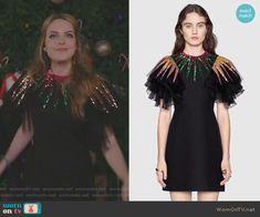 Fallon's black embellished tulle dress on Dynasty Fashion Tv, Fashion Outfits, Fashion Design, Elizabeth Gillies, Dressed To The Nines, Tulle Dress, Costume Design, Fall Outfits, Ideias Fashion