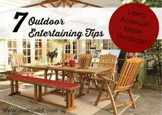 What are your plans this weekend? Seven Outdoor Entertaining Tips for an American Made Summer to Remember http://www.usalovelist.com/seven-outdoor-entertaining-tips/?utm_campaign=coscheduleutm_source=pinterestutm_medium=Sarah%20Wagner%20(American%20Made%20Products)utm_content=Seven%20Outdoor%20Entertaining%20Tips%20for%20an%20American%20Made%20Summer%20to%20Remember #LOVElisted #americanmade #buyamerican